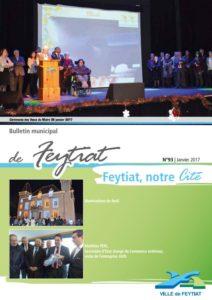 Couverture bulletin municipal de Feytiat janvier 2017 n°93